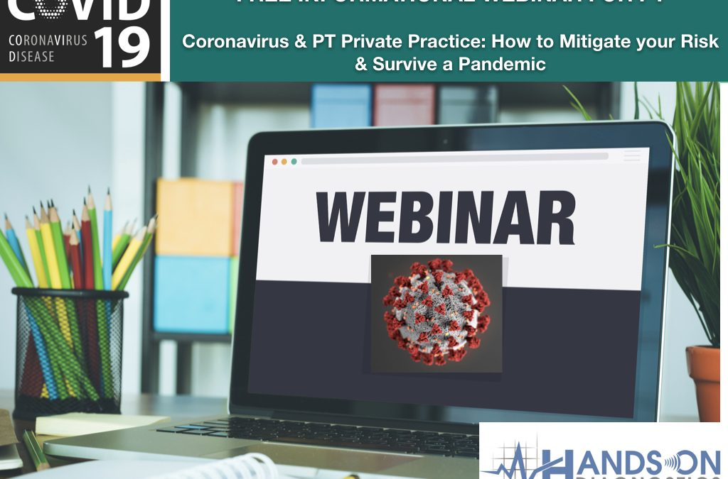 Watch our New Webinar: 'Coronavirus and How it may Impact your PT Private Practice